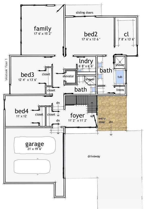 Floor Plan First Story Floor Plans Pinterest Modern house