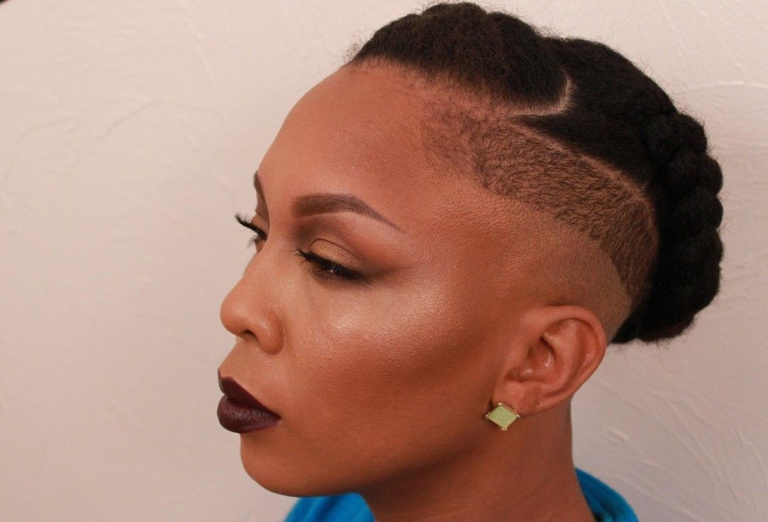 Braided Crown With Shaved Sides [Video | Natural ...