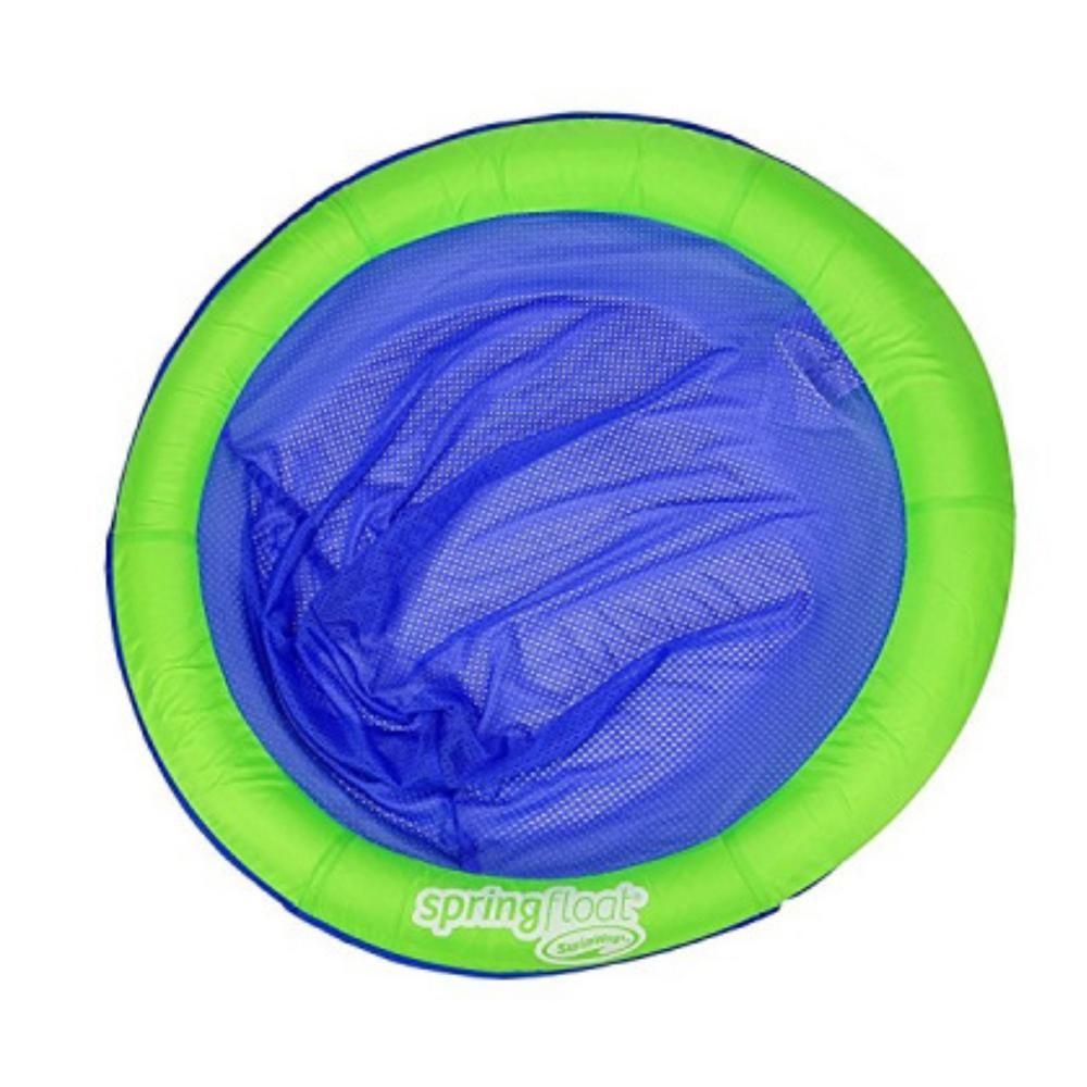 Swim Ways Green Spring Float Papasan Floating Seat 13055 The Home Depot Green Spring Pink Pool Floats Papasan