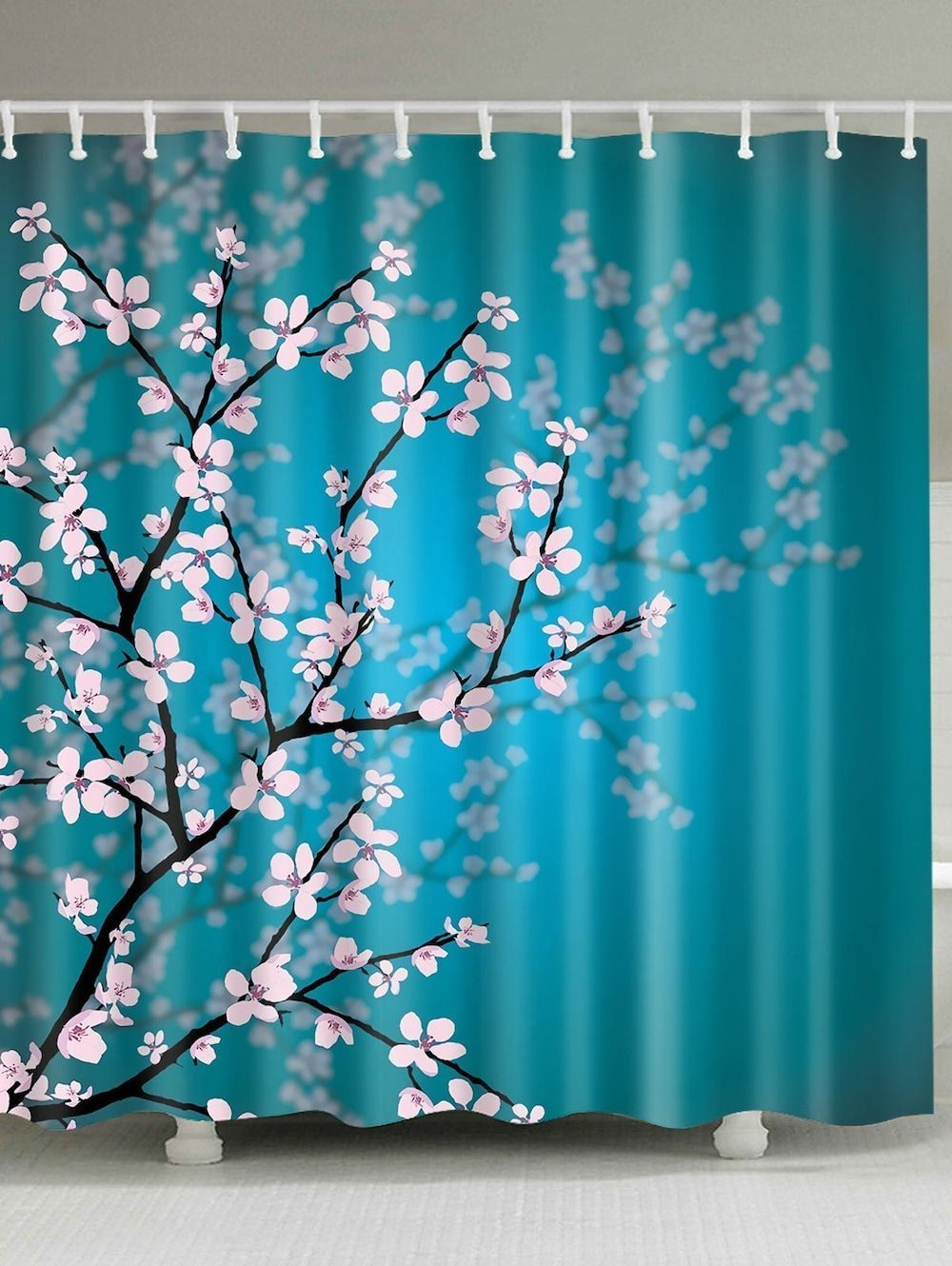 Plum Blossom Mouldproof Bathroom Shower Curtain