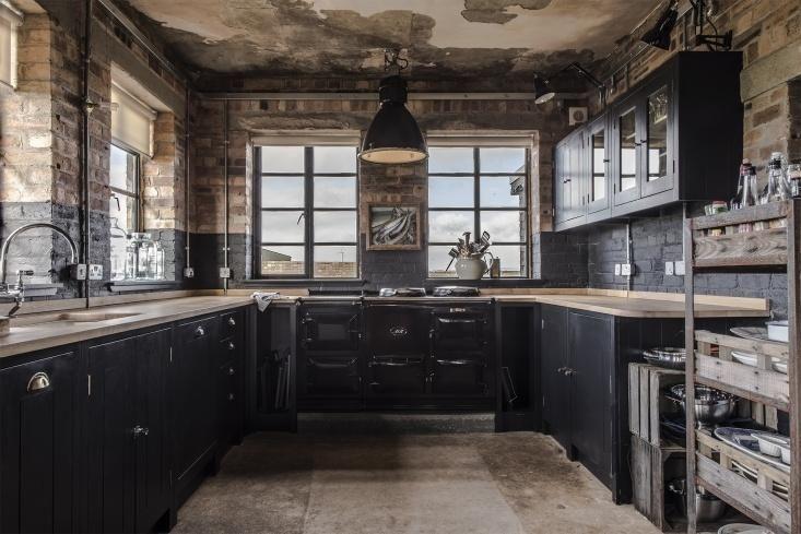 The Hms Owl Black Kitchen By British Standard Rustic Modern Kitchen British Standard Kitchen Rustic Kitchen