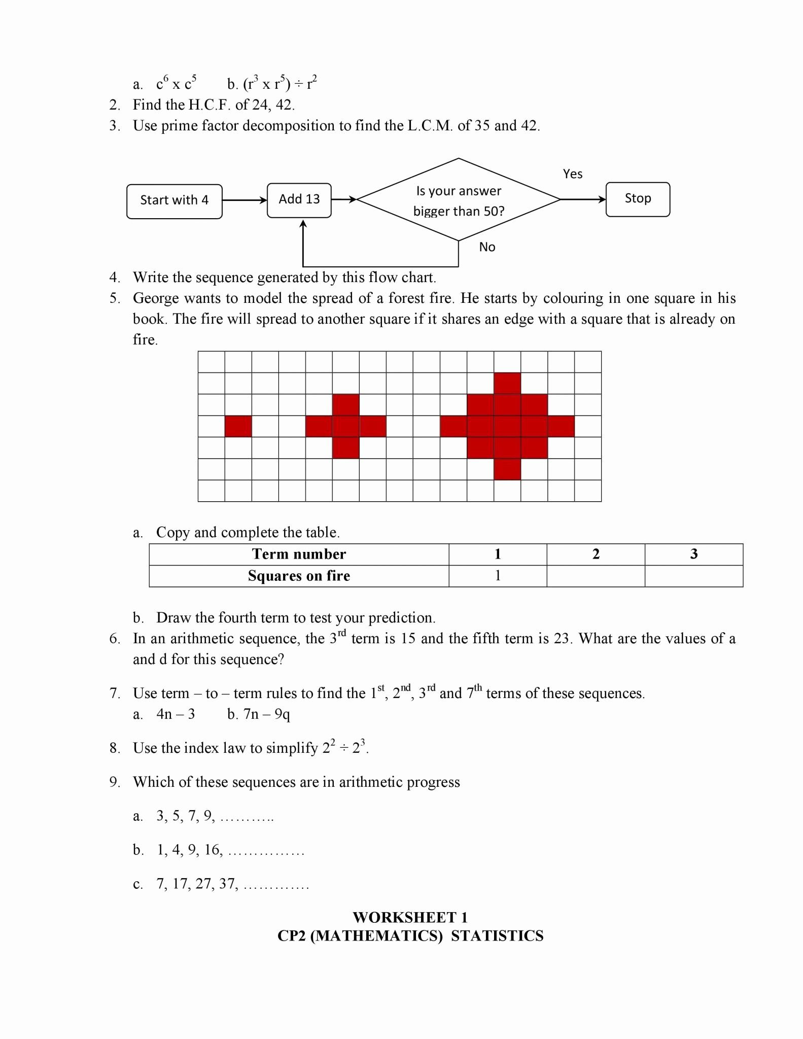 Arithmetic Sequence Worksheet Answers Awesome Arithmetic