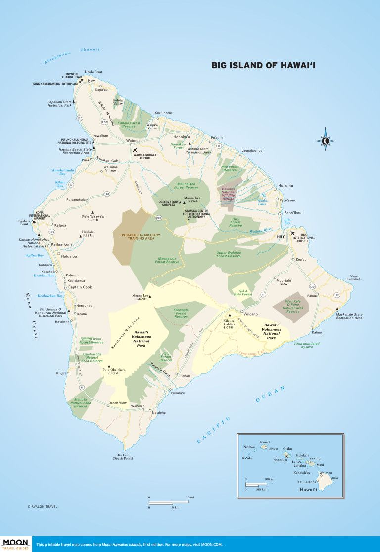 image relating to Printable Map of Maui called Substantial Island of Hawaii Scenic Drive Massive island, Hawaii