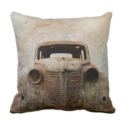 Rusty Old Antique Car Throw Pillow Antique Gifts Stylish Cool