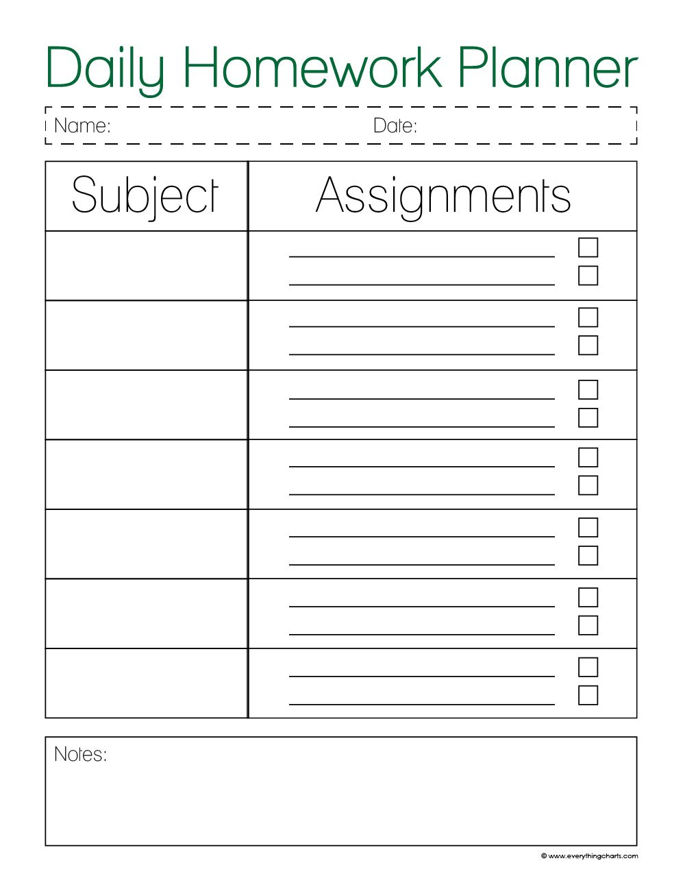 Daily homework planner ms crookshanks home work pinte for Create planner online