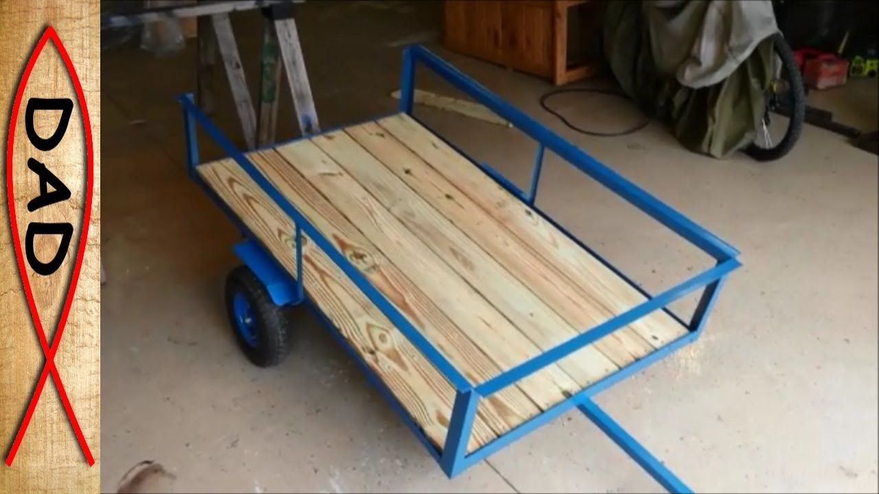 DIY lawn mower trailer / garden cart YouTube Lawn