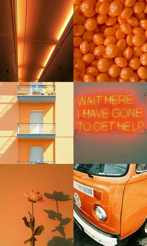 Orange Aesthetic orangeaesthetic colorpalette moodboard