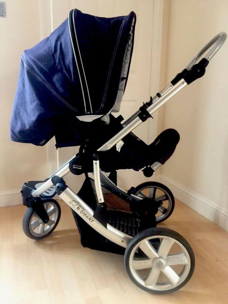Details about Britax B Smart 3 Three Wheel Buggy Stroller
