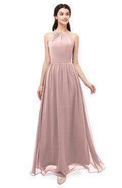 8cb44ef6ffb5b ColsBM Irene Blush Pink Bridesmaid Dresses Sleeveless Halter Criss-cross  Straps Sexy A-line Sash