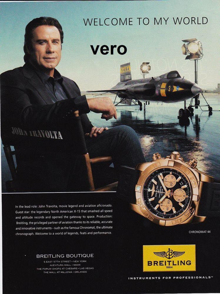 BREITLING 2016 watch mag ad print CHRONOMAT copper black ...