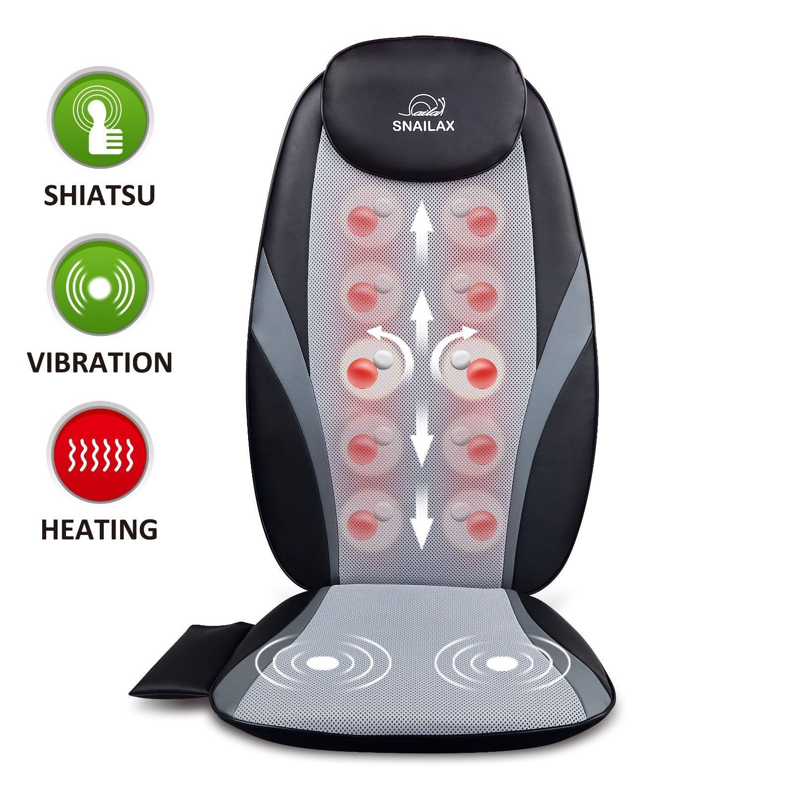 Shiatsu Massage Nodes For 3 Customized Massage Area Upper Back Lower Back Full Back Area Performs Deep Kneading Massagi Back Massager Shiatsu Shiatsu Massage