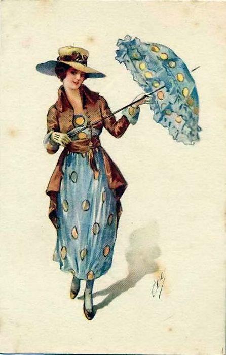 мода на старых открытках для