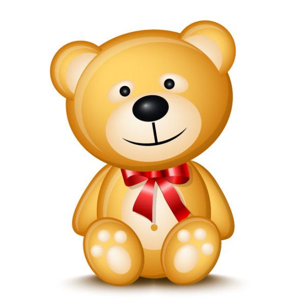 teddy bear cartoon image | Cute Cartoon Teddy bear vector 01 ...
