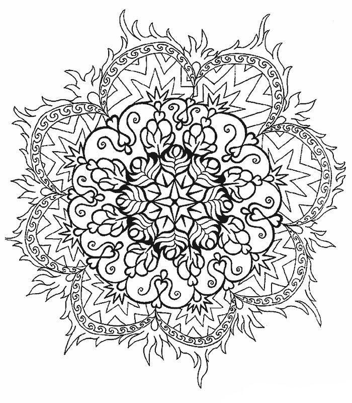 mandalas de flores para pintar  Mandalas  Pinterest
