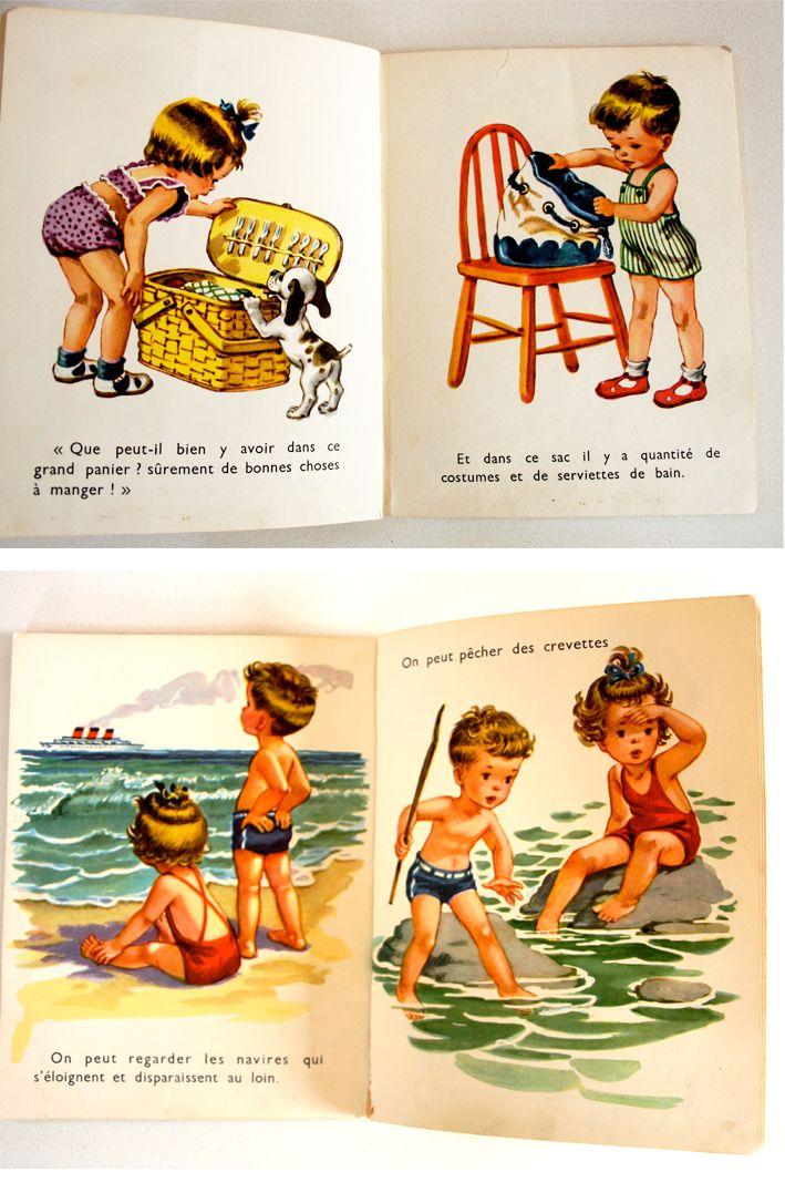 Famille Summerbelle Vintage Children Vintage Illustration Books