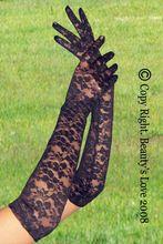 Sıcak satış gelin zayıflama dantel eldiven siyah/kırmızı/beyaz 3 renk çiçek baskı dantel ziyafet eldiven lüks dantel çiçek parti eldiven(China (Mainland))