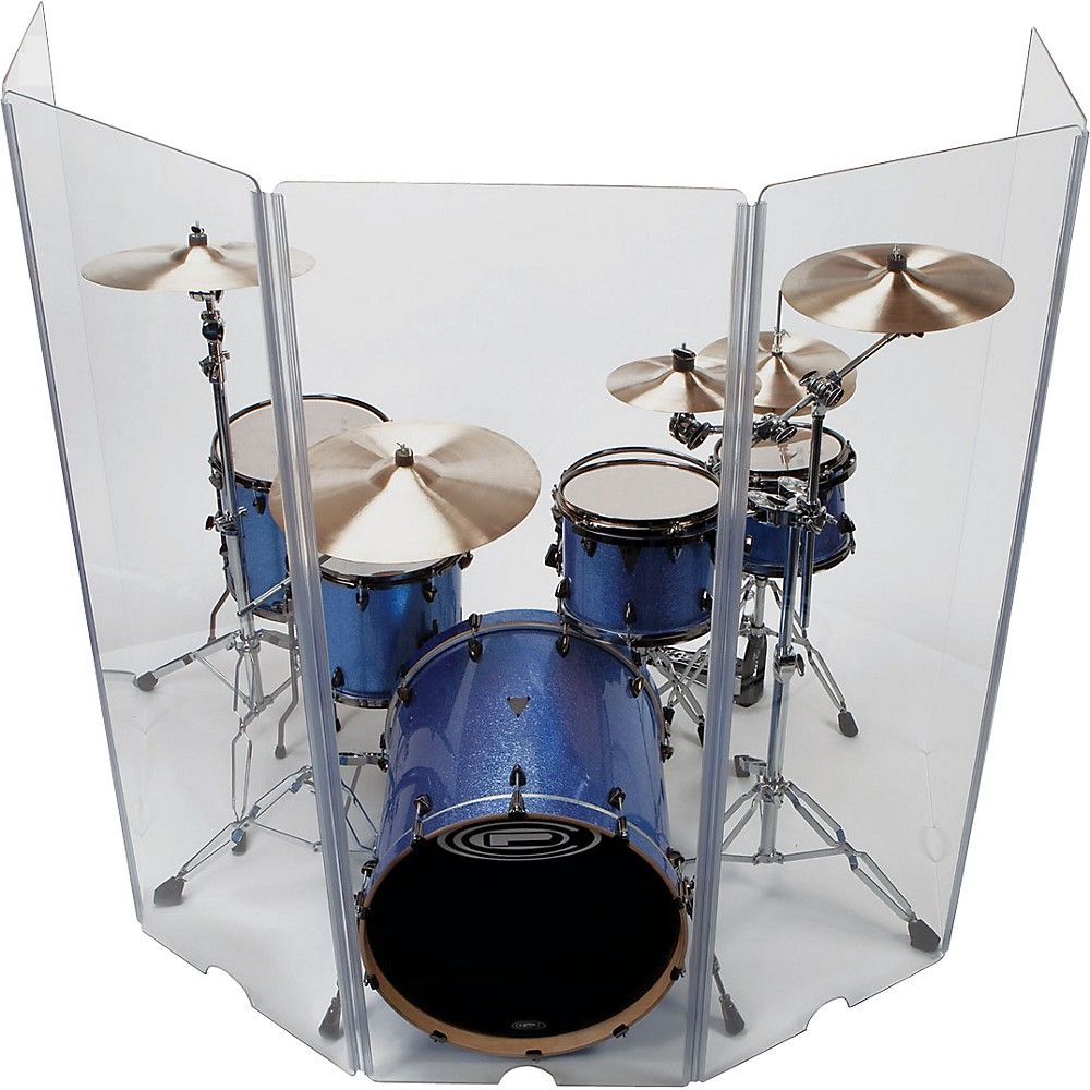Control Acoustics 5 Piece Acrylic Drum Shield Drum Room