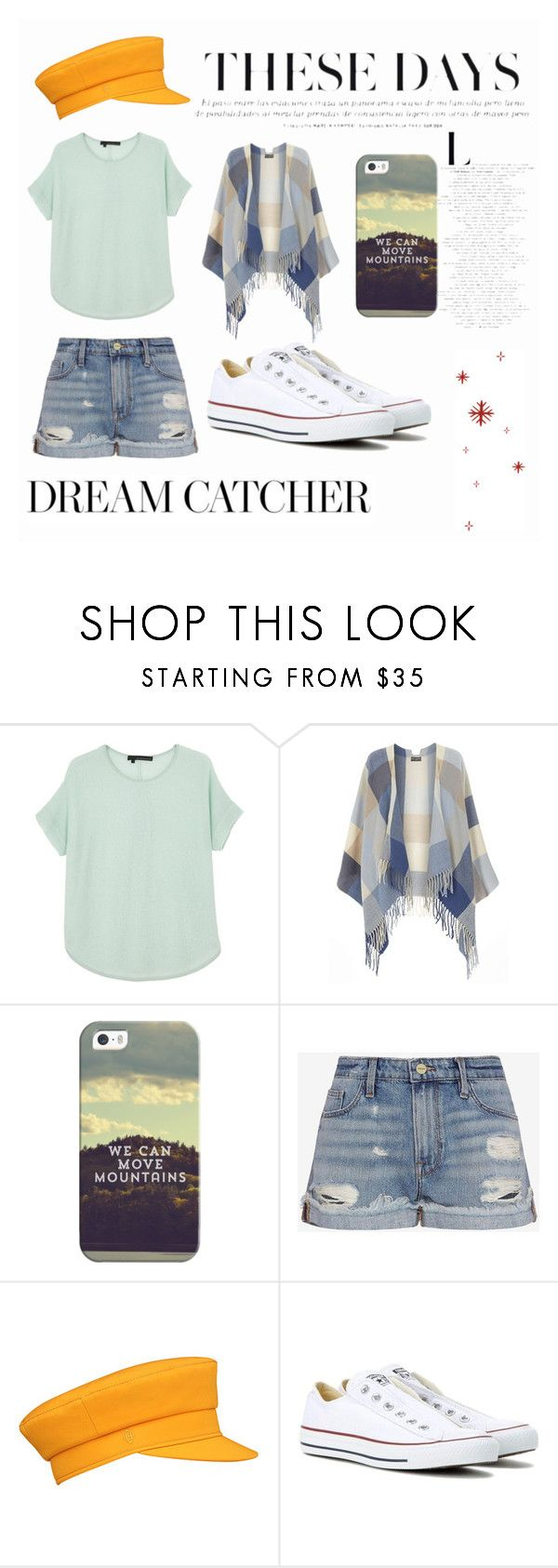 """""""Untitled #60"""" by abbyclairea ❤ liked on Polyvore featuring 360 Sweater, Dorothy Perkins, Casetify, Frame Denim and Converse"""