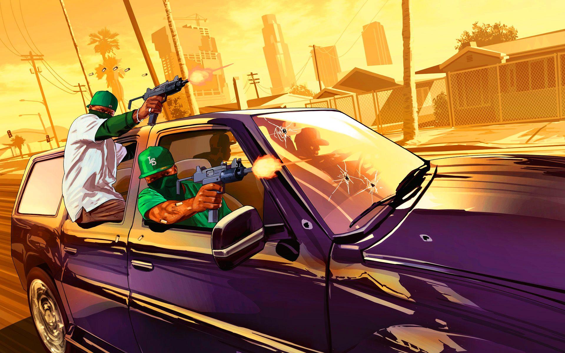 Gang Drive By Shootout Grand Theft Auto San Andreas Gta San Andreas