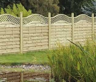 Omega Lattice Trellis Curved Top Fence Panel Fences