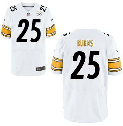 mens pittsburgh steelers 25 artie burns nike white elite 2016 draft pick jersey