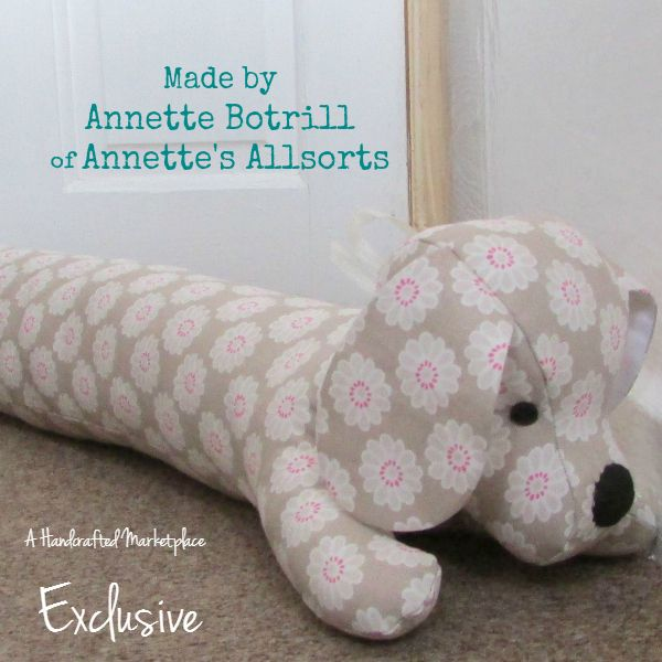 How cute is this handmade Sausage Dog draft excluder? And no more ...
