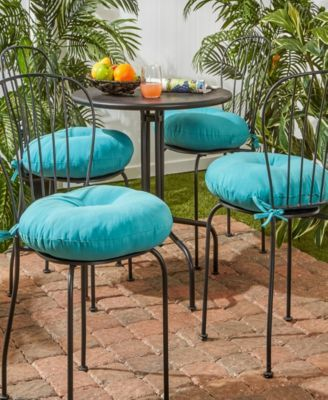 Miraculous Set Of 4 Round Outdoor Bistro Chair Cushion Products In Home Remodeling Inspirations Cosmcuboardxyz