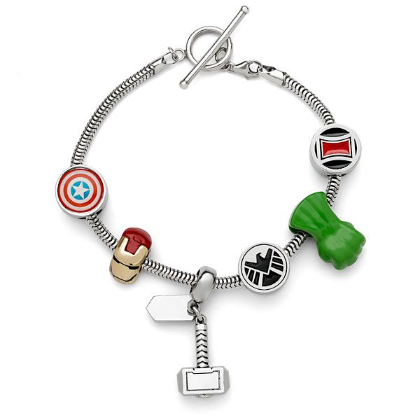 These Avengers Guardians Of The Galaxy Charm Bracelets Look Fantastic Marvel Jewelry Marvel Clothes Marvel Merchandise