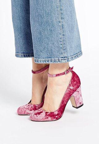 d67871c33 Pink velvet shoes! Pink velvet shoes! The ten party shoes to get you  through sparkle season.