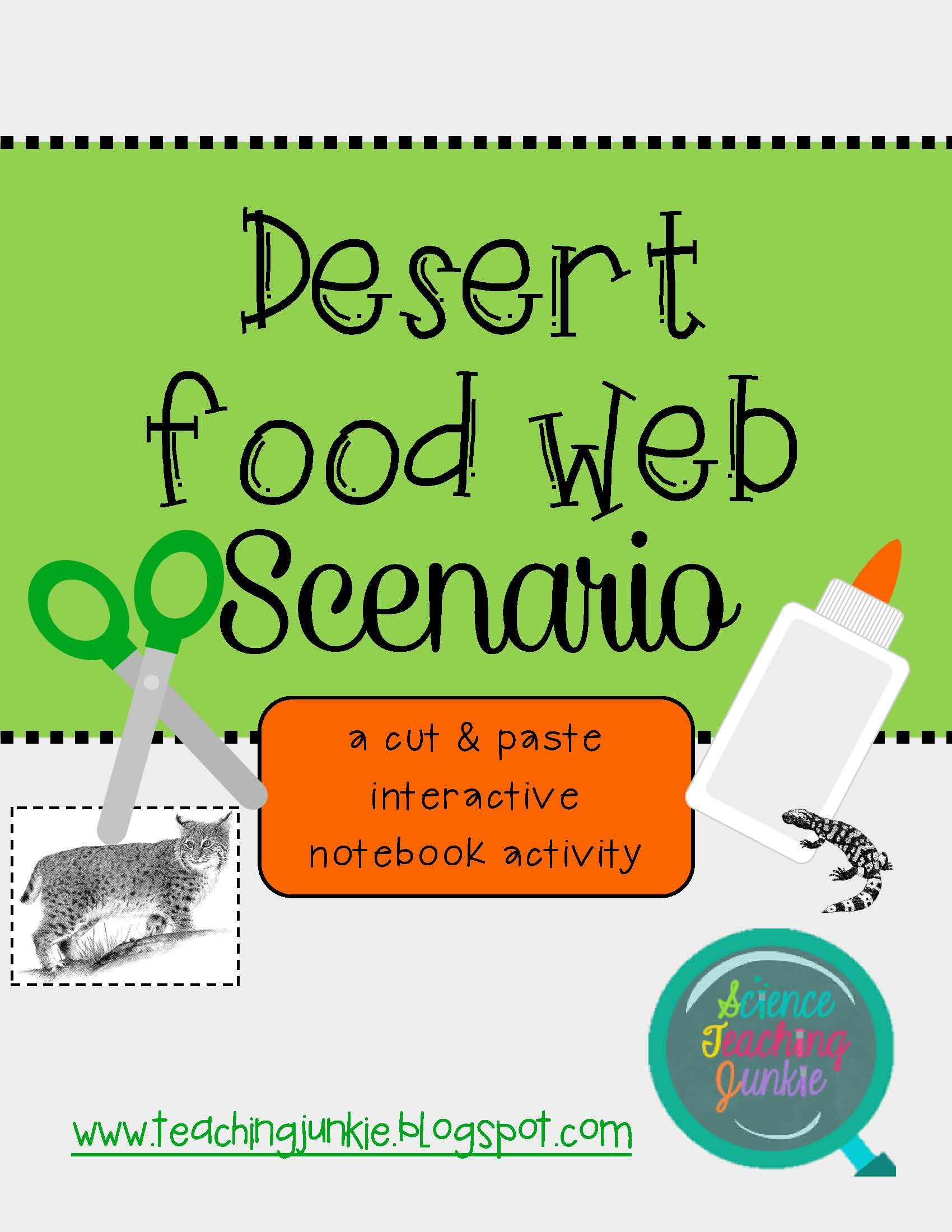 Desert Food Web Scenario Cut Amp Paste Activity For