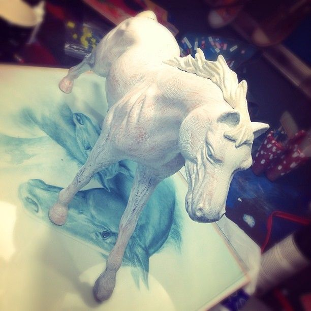 The start of a new art project... #art #horse #toy