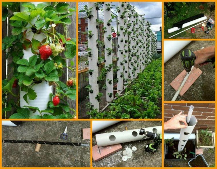 diseos caseros de jardineras verticales - Jardineras Verticales