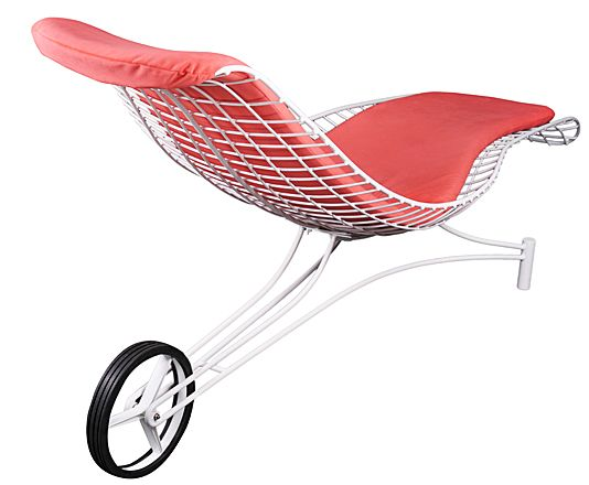 Kagan Capricorn Lounger with Wheel #chaise longue