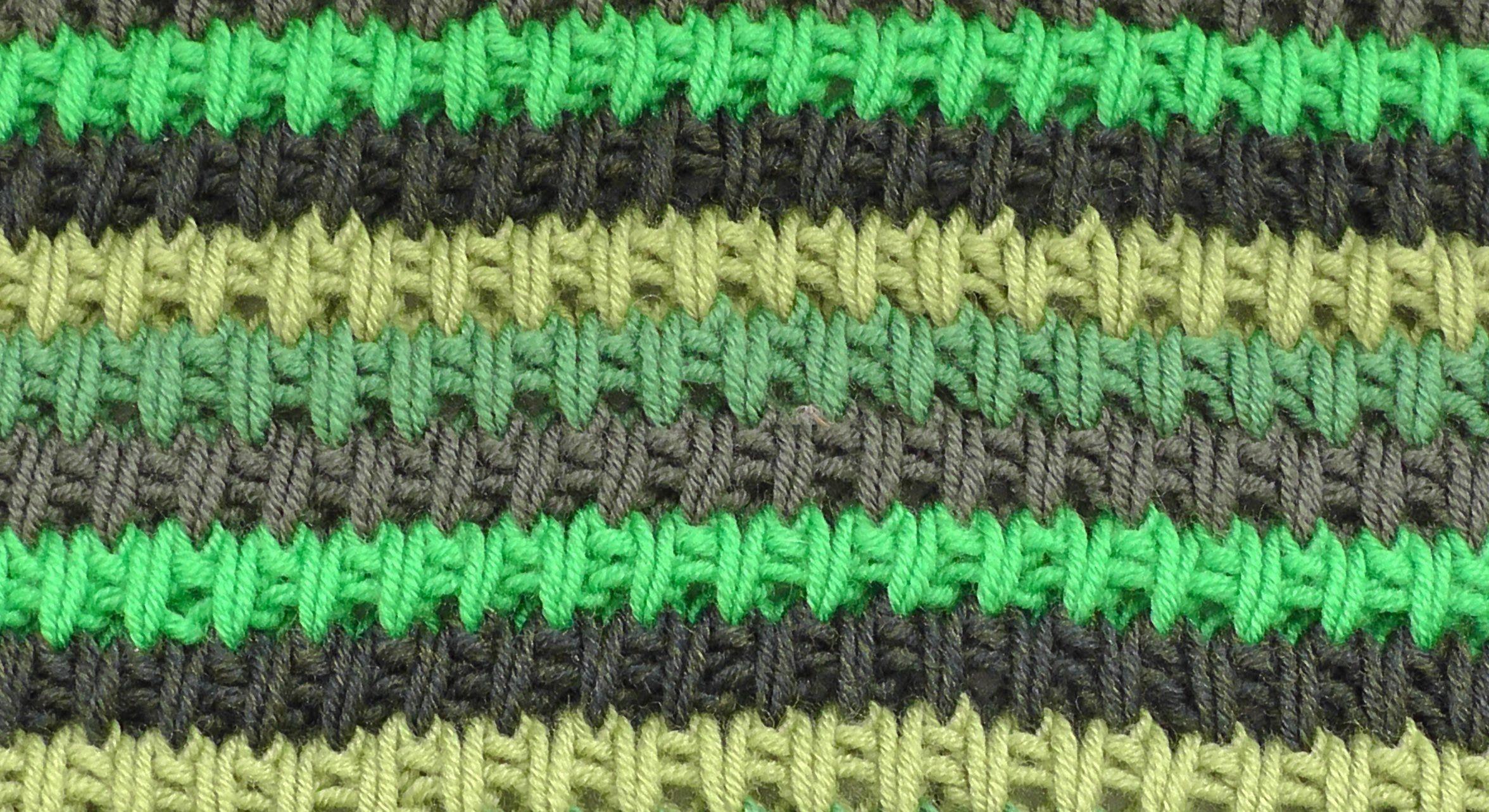 İki Renkli Kafes Örgü Modeli Yapılışı