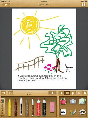 Scribble Press by Fingerprint literacy language drawing