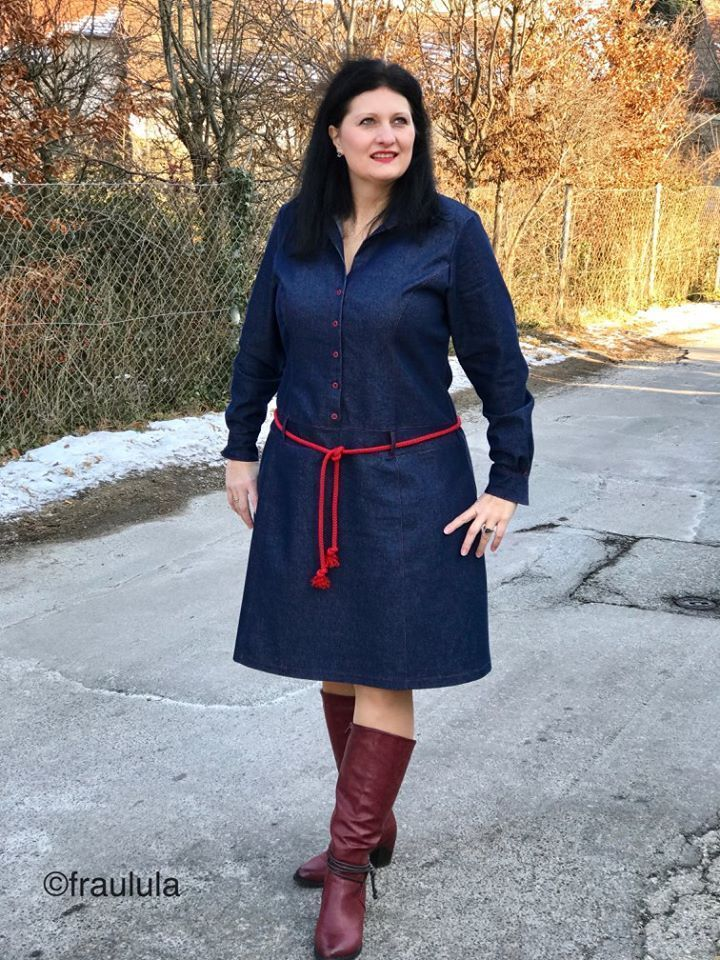 Schnittmuster / Ebook lillesol women No.26 Jeanskleid / Nähen Kleid ...