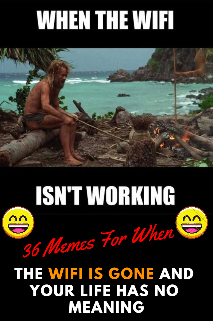 36 Memes For When The Wifi Is Gone And Your Life Has No Meaning Memes Funny Memes Life