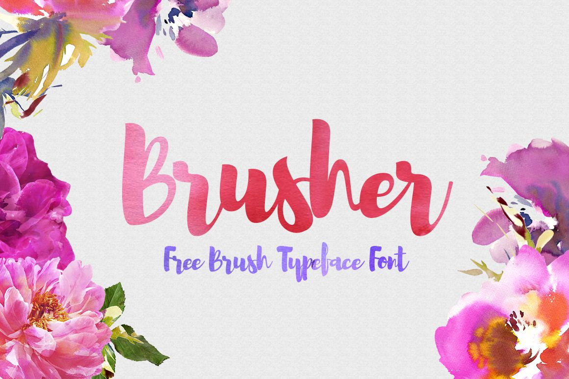 Dlolleys Help Brusher Free Brush Typeface Font Free Watercolor