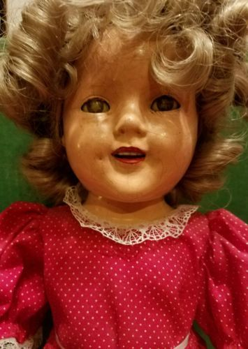 1930s-Ideal-Shirley-Temple-18-034-Composite-Doll-Lower-Grade-LOOK