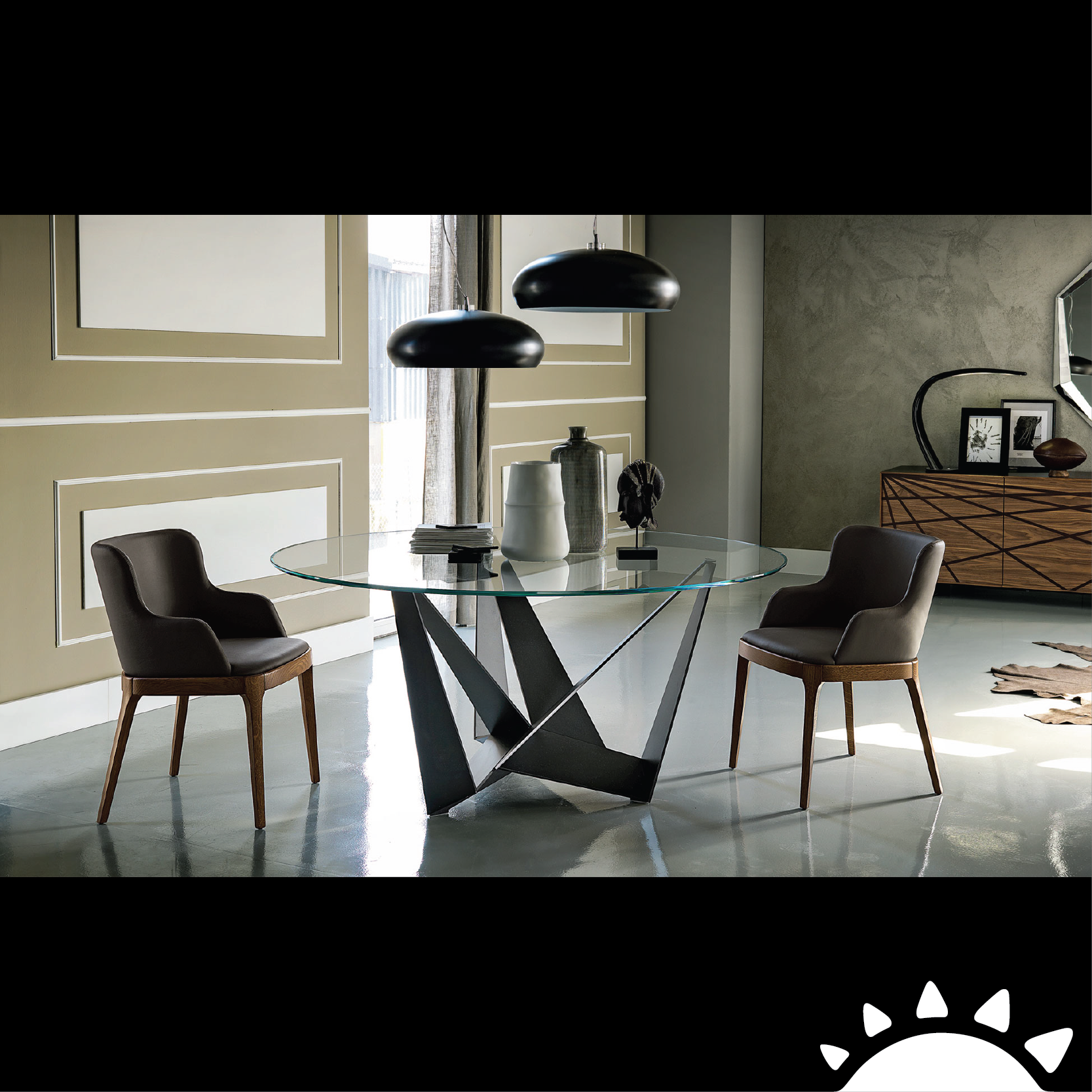 Skorpio table with glass top Classy Contemporary Tables Offer Sculptural  Style And Geometric Contrast