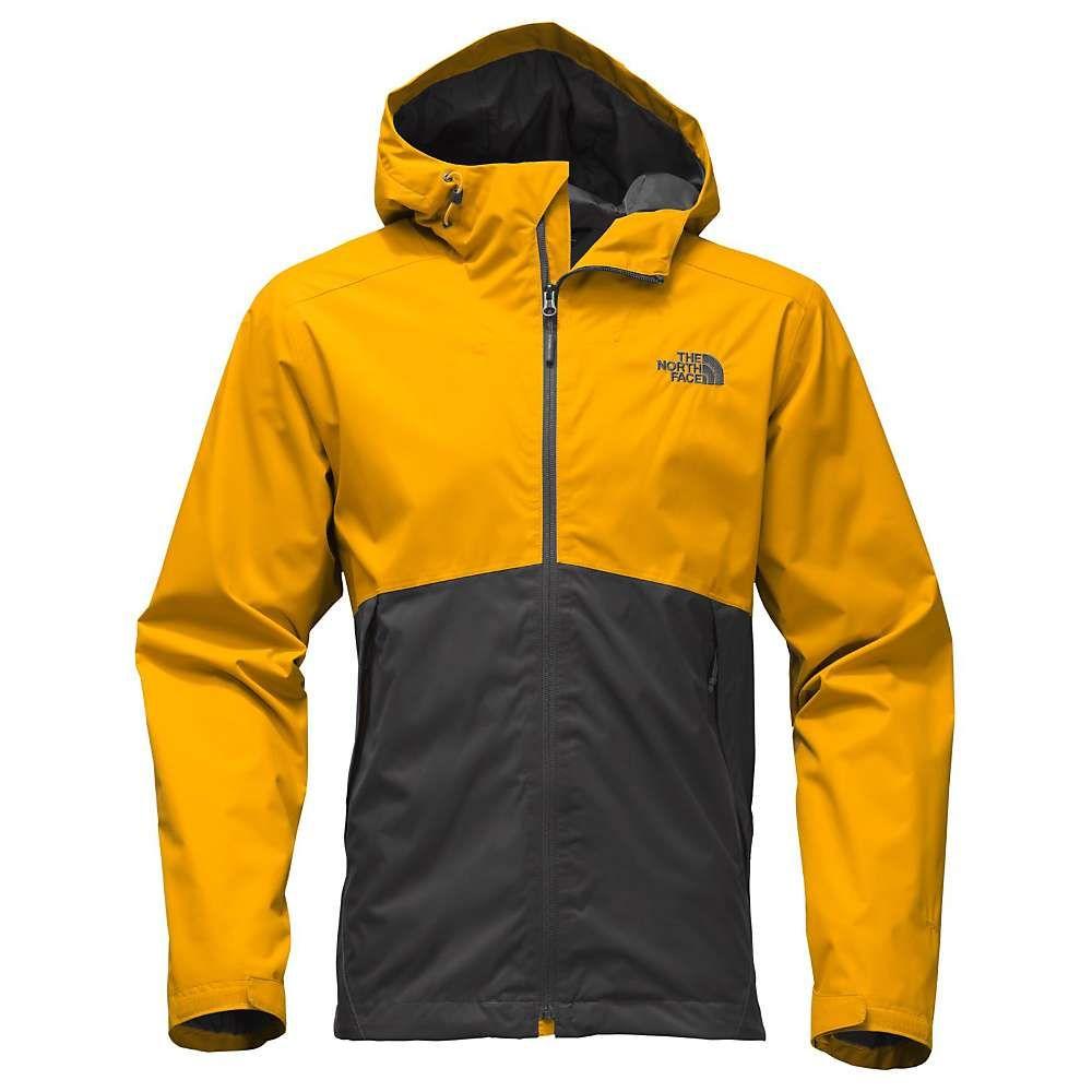 The North Face Men S Millerton Jacket Small Asphalt Grey Arrowwood Yellow Leather Jacket Men Style Mens Rain Jacket North Face Mens [ 1000 x 1000 Pixel ]