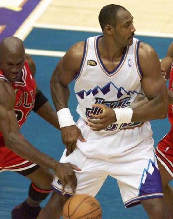 42f8ed31fab Michael Jordan s steal on Jazz s Karl Malone that led to the