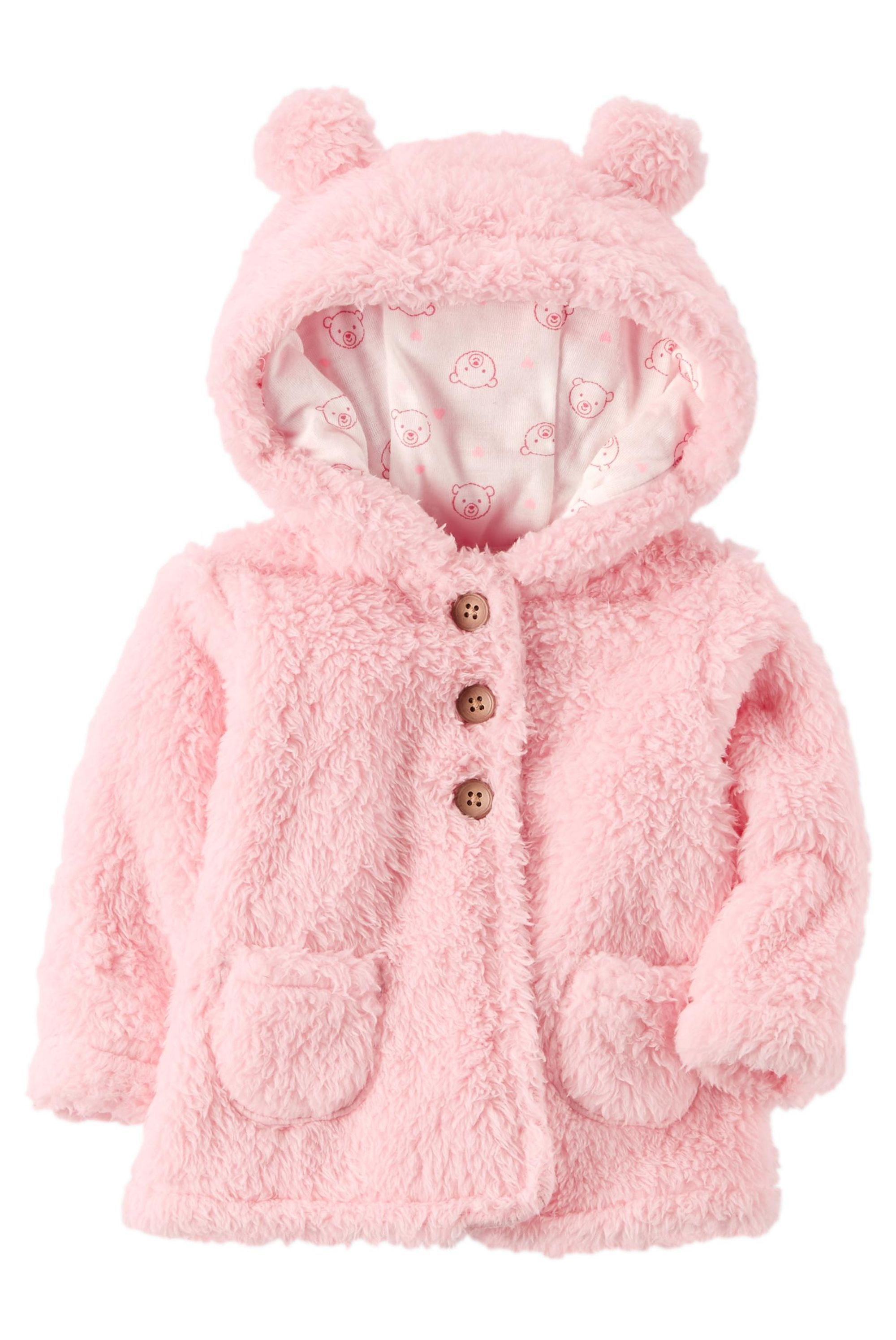 Sherpa Hooded Jacket Carters Com Kids Baby Carters Baby