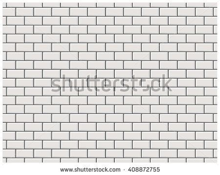 White Brick Wall In Subway Tile Pattern Subway Tile Patterns Tile Patterns White Brick Walls