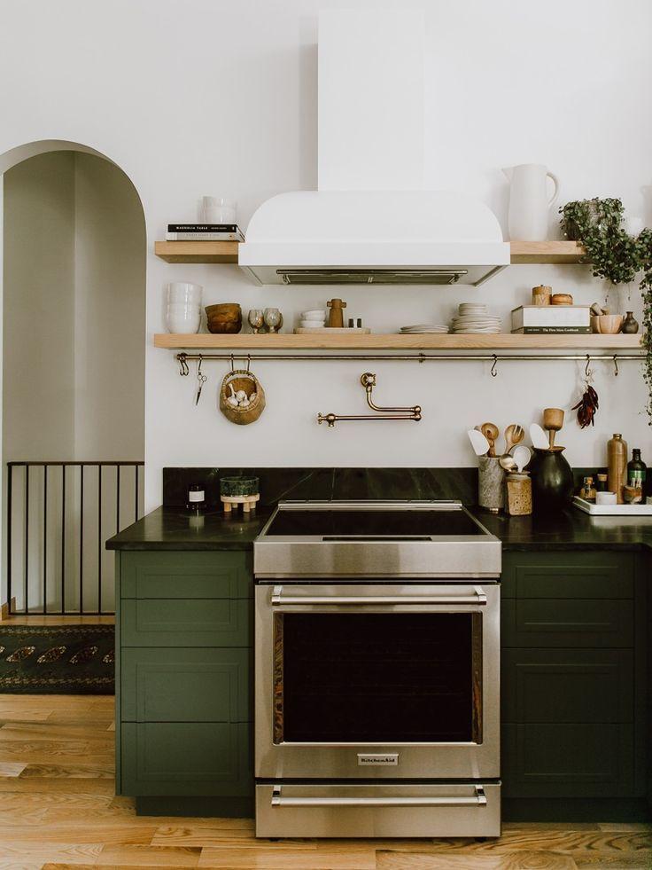 Inside a Dark Green Kitchen Makeover