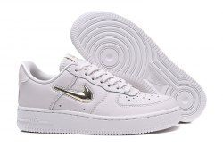 sale retailer 5446a af36b Nike Air Force 1 `07 Premium LX Gold Jewel Swoosh Phantom Metallic Gold Star -Summit White AO3814 001 Men s Women s Casual Shoes