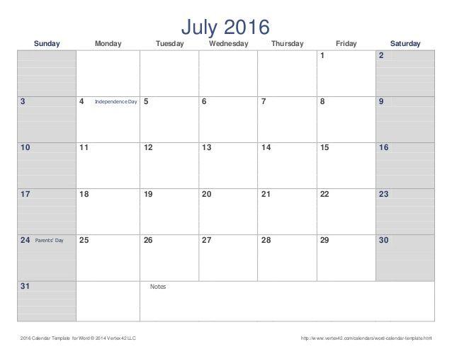 July 2016 Calendar Marathi July Calendar Printable Template - calendar template on word