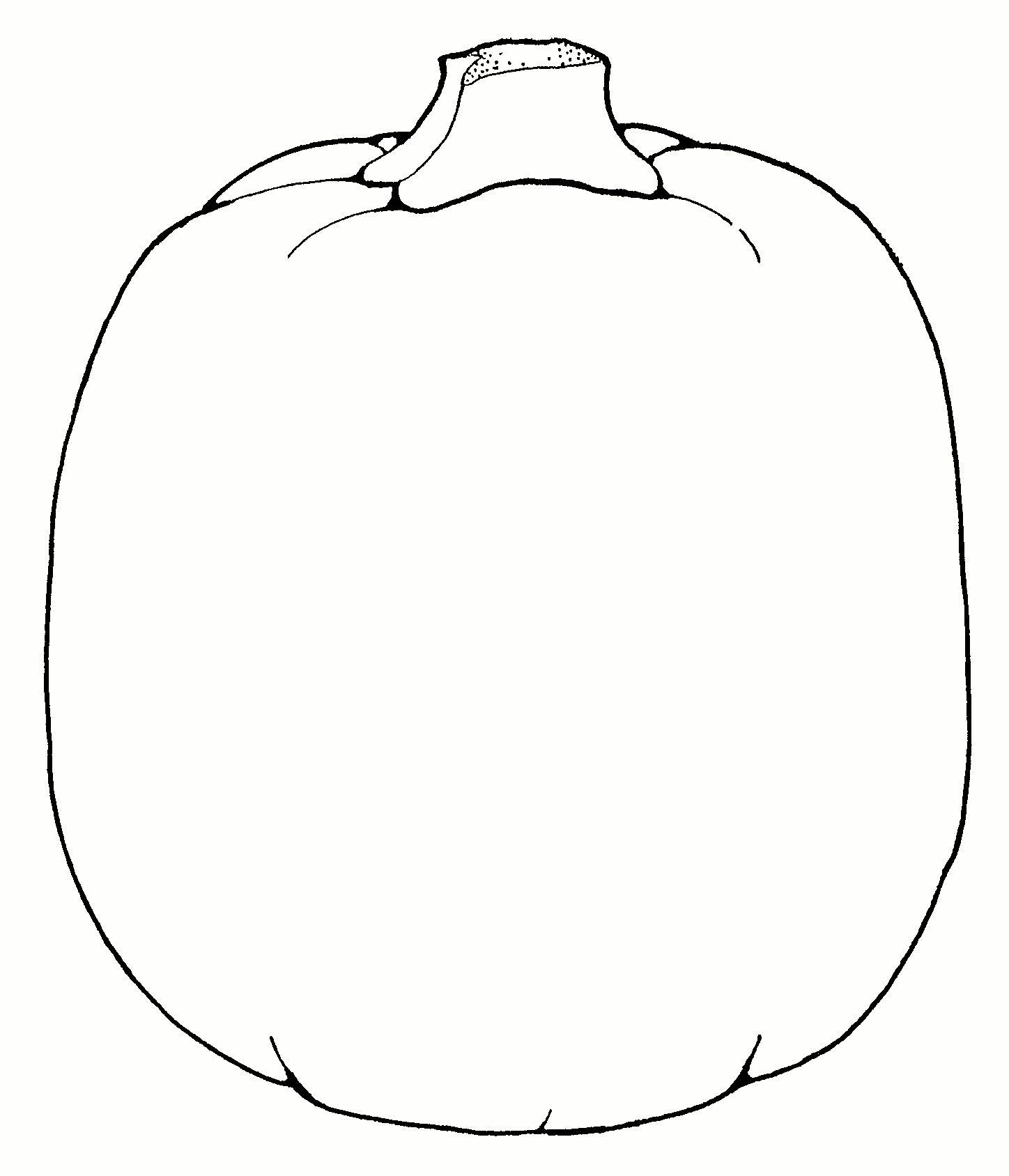 Pumpkin Clipart Outline Images Royalti