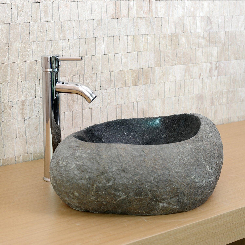 cool cette vasque en granit gris est un produit unique qui. Black Bedroom Furniture Sets. Home Design Ideas