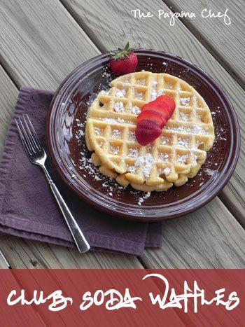 Club soda waffles the pajama chef breakfast pinterest food club soda forumfinder Image collections